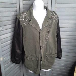 Forever 21 Rhinestone embellished Utility Jacket M